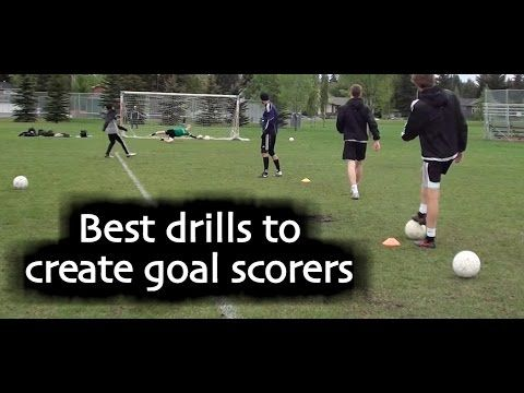 These drills will teach you to score more goals and beat the goalkeeper in 1v1 situations: https://www.youtube.com/watch?v=cNMbQIpP4zU