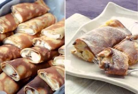 Palatschinken — Austrian pancakes with cottage cheese