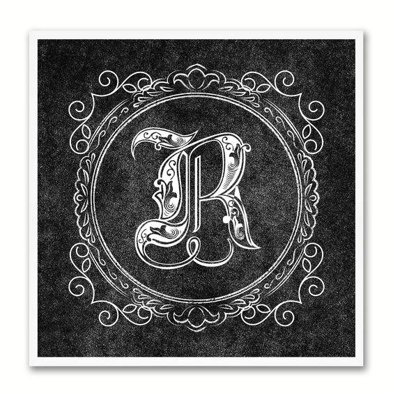 Alphabet Letter R Black Canvas Print Black Frame Kids Bedroom Wall Décor Home Art