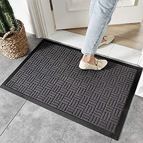Quisilife Decorative Door Mat Non Slip Waterproof Doormat Outdoor