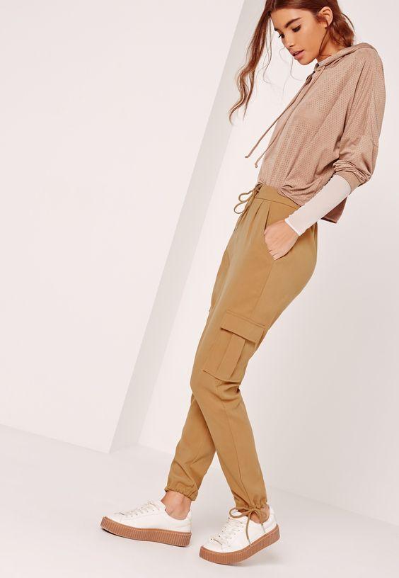 Missguided - Pantalon utilitaire marron avec poches