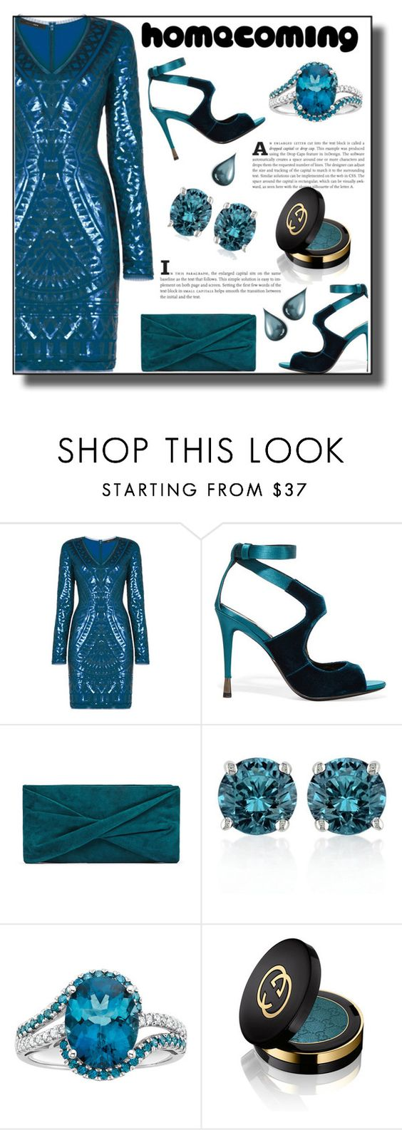 """Untitled #251"" by rocio-robles ❤ liked on Polyvore featuring BCBGMAXAZRIA, Tom Ford, Belk & Co. and Gucci"