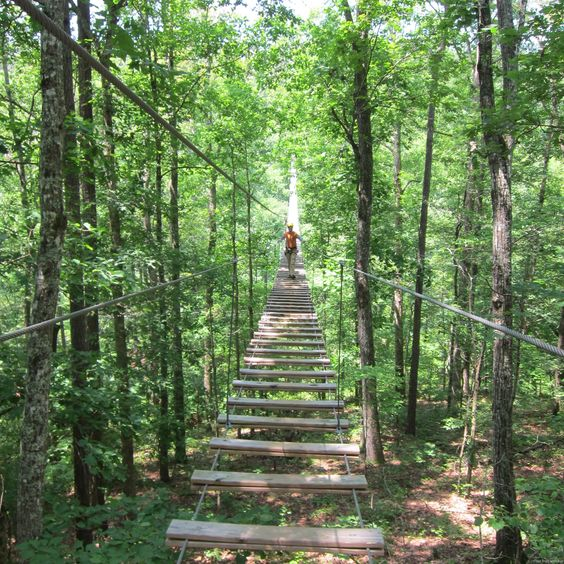 Banning Mills has some of the best zip lining in Georgia and a great adventure course.