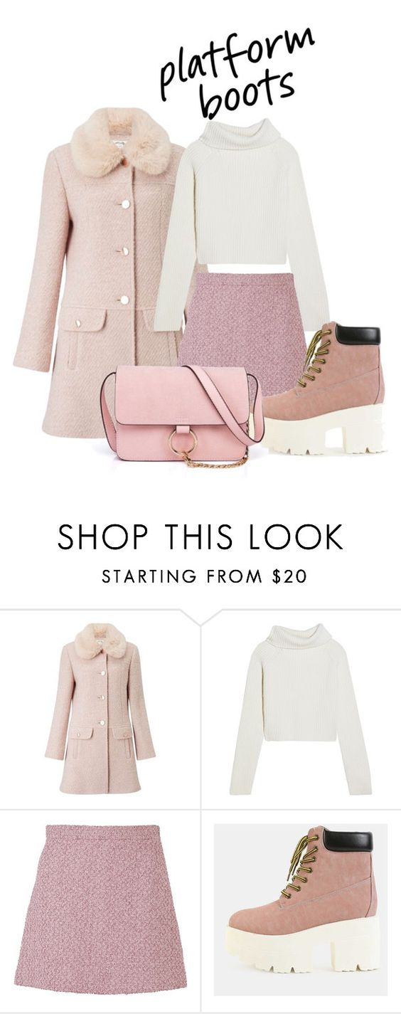 """""""2017"""" by adancetovic on Polyvore featuring Miss Selfridge, Haider Ackermann, Gucci, Anja and platform"""