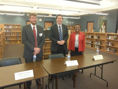 Evan Guthrie Law Firm talks at Law Day At Burke High School In Charleston, SC On May 1 2013. Law Day is celebrated nationwide and recognizes the importance of #law  in society. Fun event about #lawyers