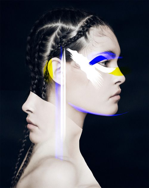"""louisemertens: """" photographer: Aleksandra Zaborowska / Aleksandra Zaborowska Photography model: Maria/Mango Models graphics: Louise Mertens """""""
