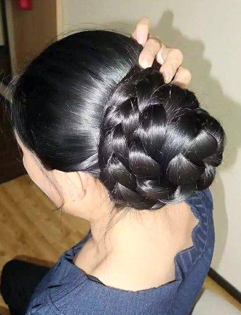 Silky Braid Bun Bun Hairstyles For Long Hair Big Bun Hair Long Hair Styles