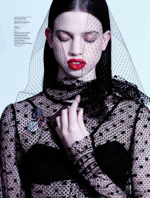 JALOUSE Magazine April 2013, Lily McMenamy by Jean-Baptiste Mondino