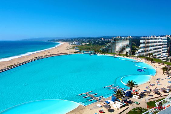 Algarrobo chile world 39 s largest swimming pool heaven - The biggest swimming pool in chile ...