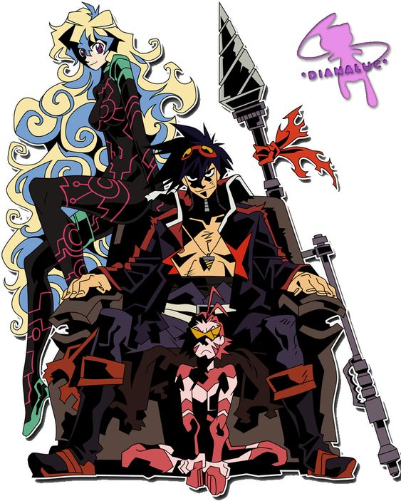 Gurren lagann, deviantART and Spirals on Pinterest