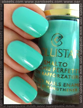 Collistar Mint Milk nail polish from Capri LE.  Review: http://www.parokeets.com/en/2012/03/collistar-mintmilk-nail-polish-capri-le-preview/