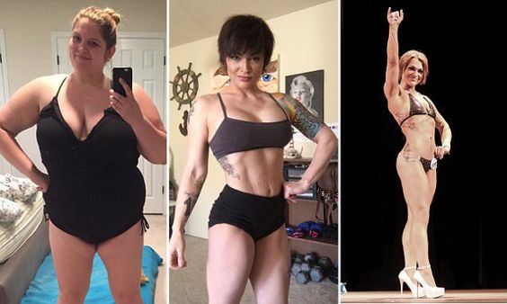 Obese mother loses almost 100 pounds to compete as a body builder
