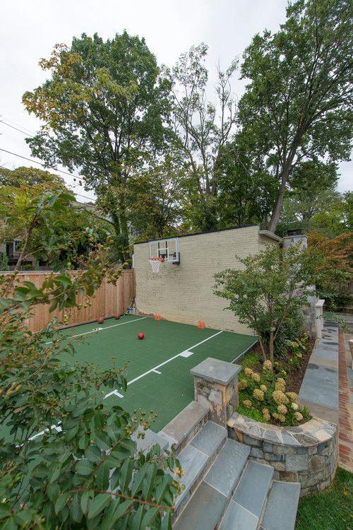 35 Of The Best Backyard Court Ideas Basketball Court Backyard Backyard Court Backyard Basketball