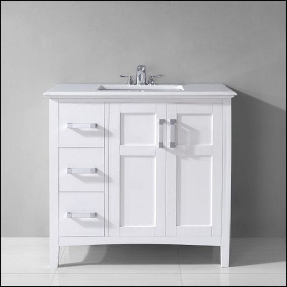 30 inch white bathroom vanity with drawers | bathroom | pinterest