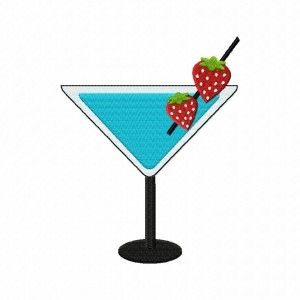 Strawberry Cocktail Stitched 5_5 Inch