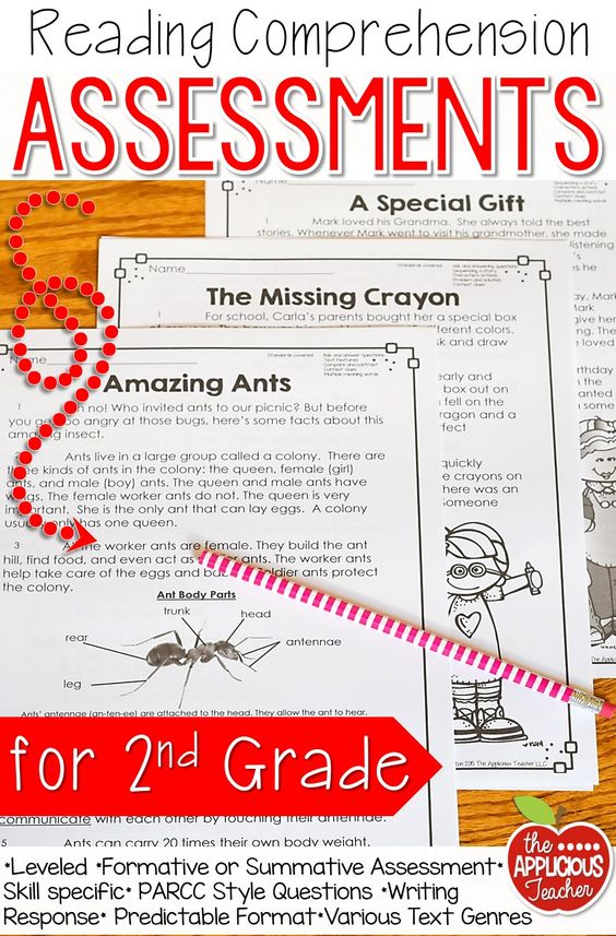 Reading Comprehension Assessments for 2nd grade. OMW! These are amazing! Get them now and have all my reading tests for next year ready to go!