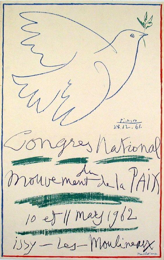 15047D: 1962 Picasso Congress For Peace Mourlot Litho