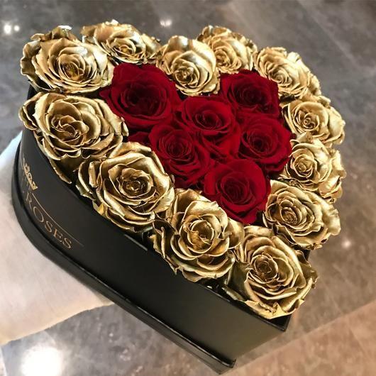 Real Long Lasting Roses Heart Shaped Box Lifetime Is Over 1 Year цветочные ящики букет из конфет букет