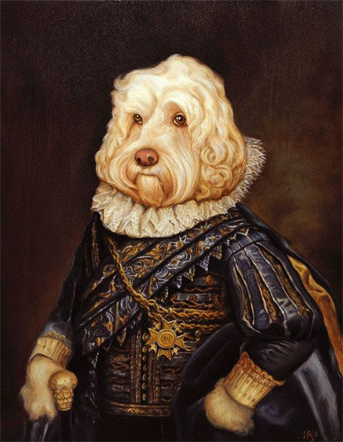 Custom 8x10 royal pet portrait for the pets and portrait for Painting of your dog