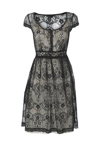 Vintage dress: Black Lace, Wedding, Vintage Dress