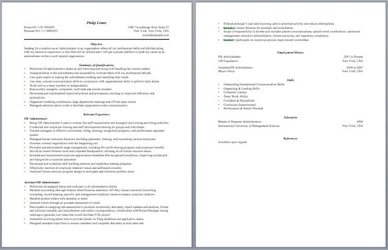 Contract Administrator Resume Administrative Resume Samples - obiee architect sample resume