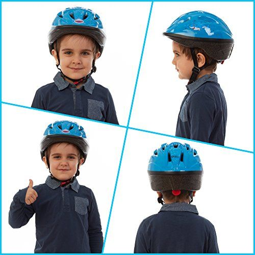 Kids Bike Helmet Adjustable From Toddler To Youth Size Ages 3 7