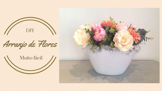 Aprenda a fazer arranjo de flores