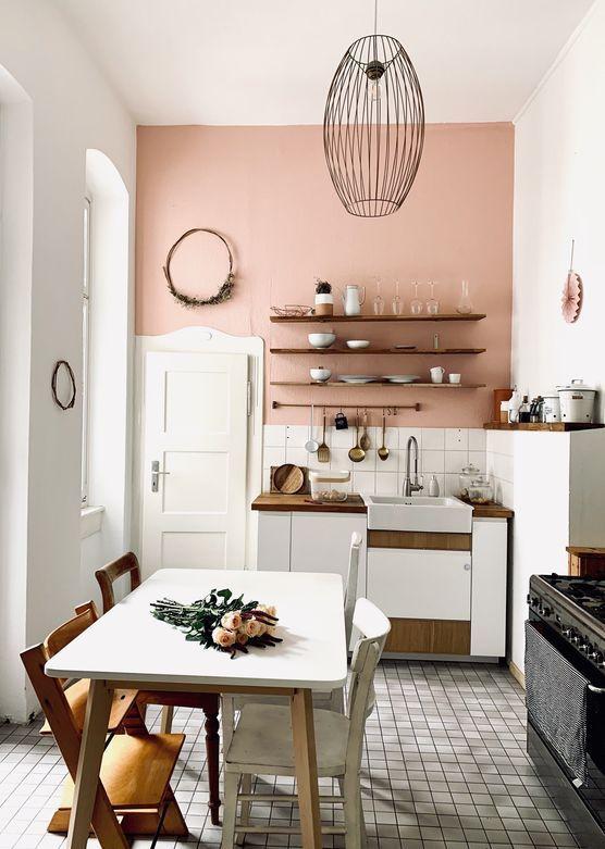 Wandfarbe Altrosa Rosa Die Schonsten Ideen Haus Umbau Wandfarbe Kuche Wohnen