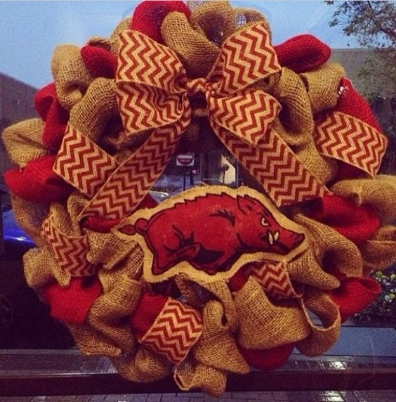 Razorback wreath from Roustabout boutique.