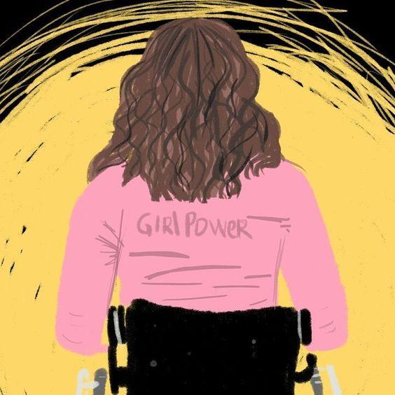 Body positive cadeirante Emponderamento feminismo. Arte Paloma Barbosa instagram.com/partes.art