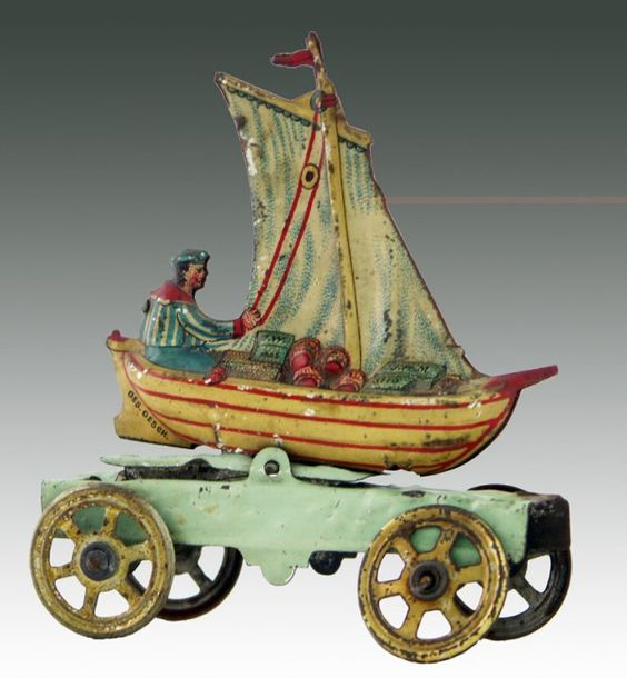 Antique toy boat, what a lovely thing to have