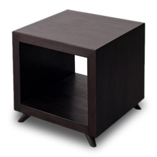 Find It At The Foundary   Retro Cubic Square Side Table   Dark Wood Finish  U2022Cubic Mahogany Side Table With An Open Shelf U2022Dimensions: 20L X 20W Xu2026