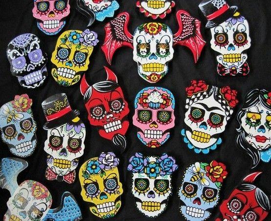 Los cráneos representan a los muertos