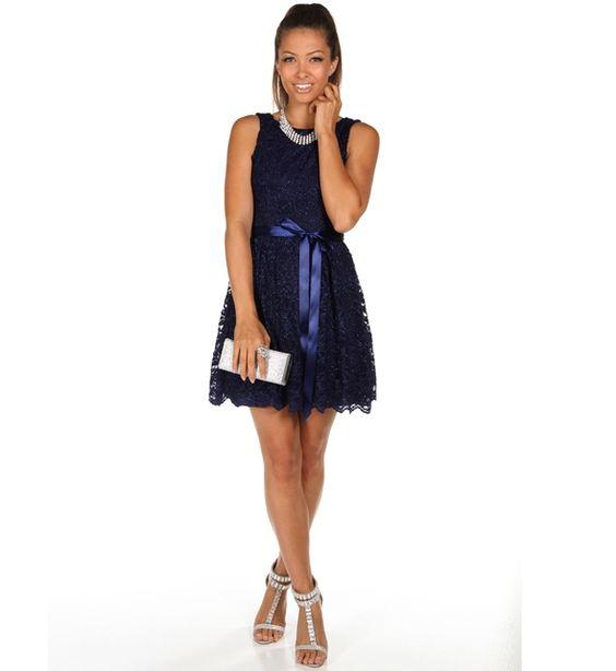Kalinda-Navy Homecoming Dress