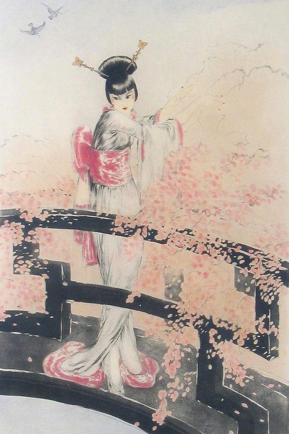 Louis Icart - Illustrations - Geisha