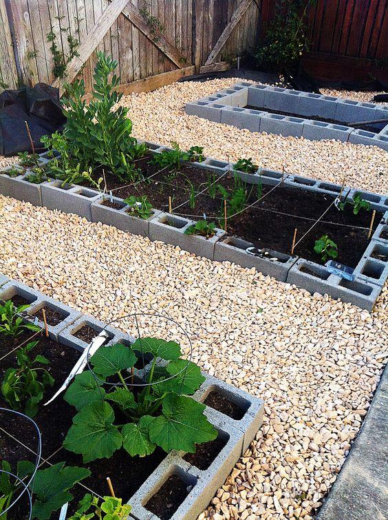 Cinder Blocks Vegetable Garden And Gardens On Pinterest
