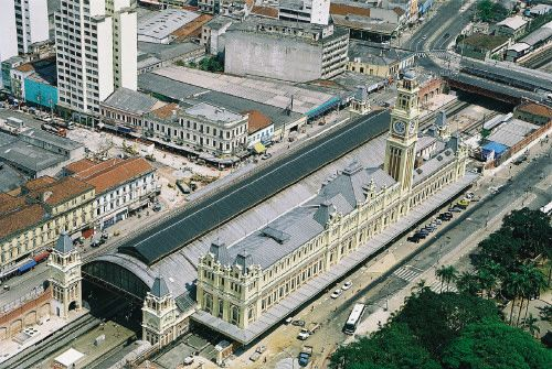 Estaçao da Lingua Portuguesa à Sao Paulo (Brésil)     #Architecture #Zinc #Project #RailStation #VMZINC #Brazil #SaoPaulo