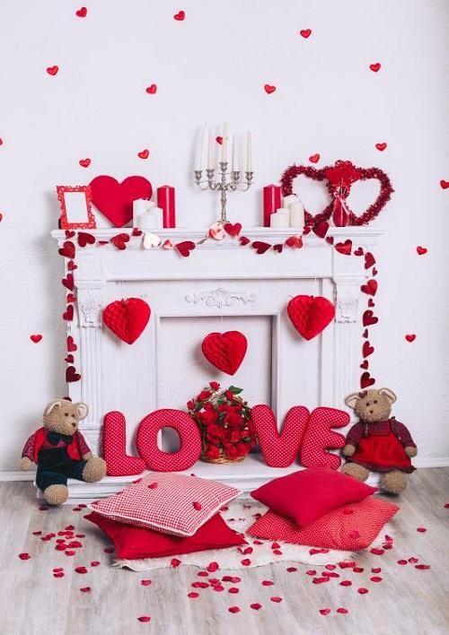 Valentines vinyl Photography Backdrop