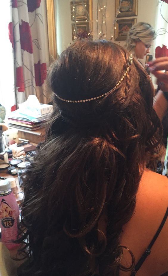 My beautiful wedding hair, plait theme with the bridesmaids