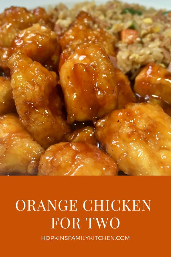 Orange Chicken for Two