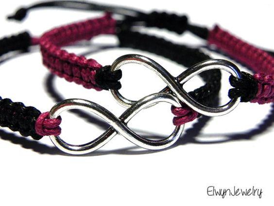 couples bracelets infinity bracelets his hers bracelets