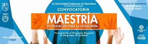 UAQ convoca a ingresar a la Maestría en Educación para la Ciudadanía
