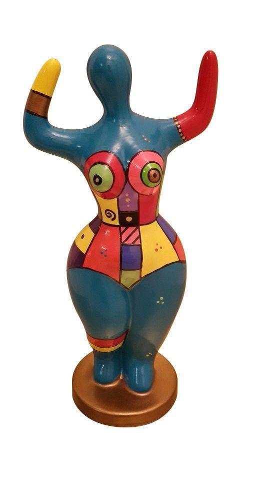 Hauteur 12 centim/ètres pour Collection ou d/écoration Laure Terrier Statue dans Le Style des Nanas Niki de Saint Phalle Pi/èce Peinte /à la Main