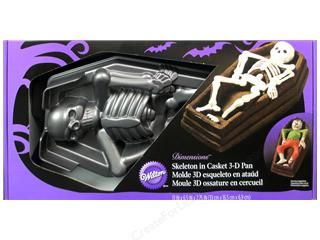 cake: Wilton Pan Cake 3D Skeleton In Casket Easy Release