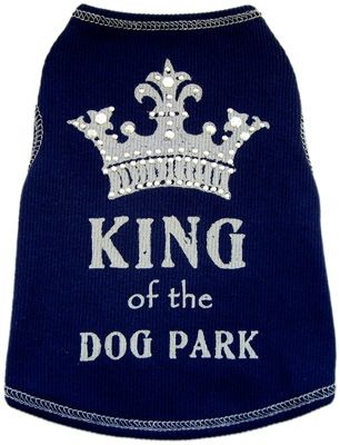 Dog Tee Shirt King Of The Dog Park-dog tee shirts, king of the dog park