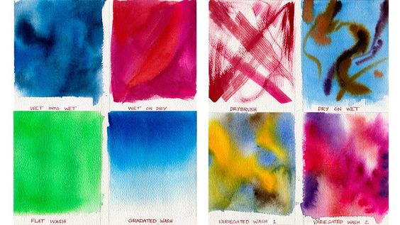 This easy lesson is for total beginners, and it will help you learn about the four ways to apply watercolor along with three main wash techniques. Use whatev...