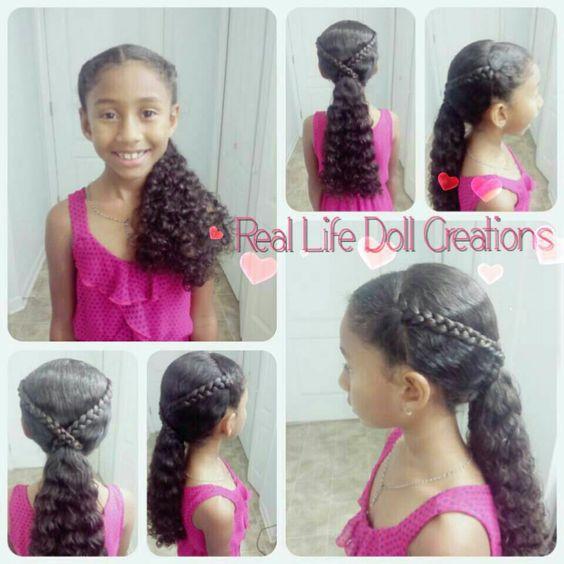 Super Little Girl Braids Girls Braids And Easy Hairstyles On Pinterest Short Hairstyles For Black Women Fulllsitofus