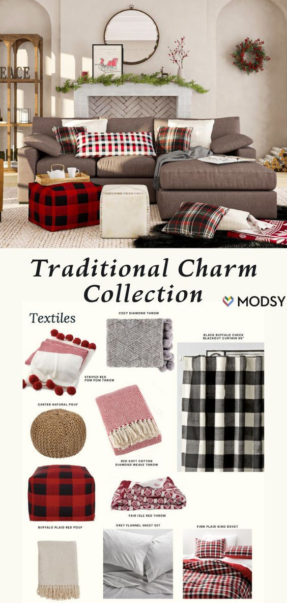 Introducing Our 2020 Holiday Decor Lookbook Modsy Blog Traditional Design Living Room Traditional Holiday Decor Trending Decor