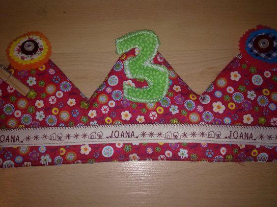 Corona d'aniversari de 3 anys