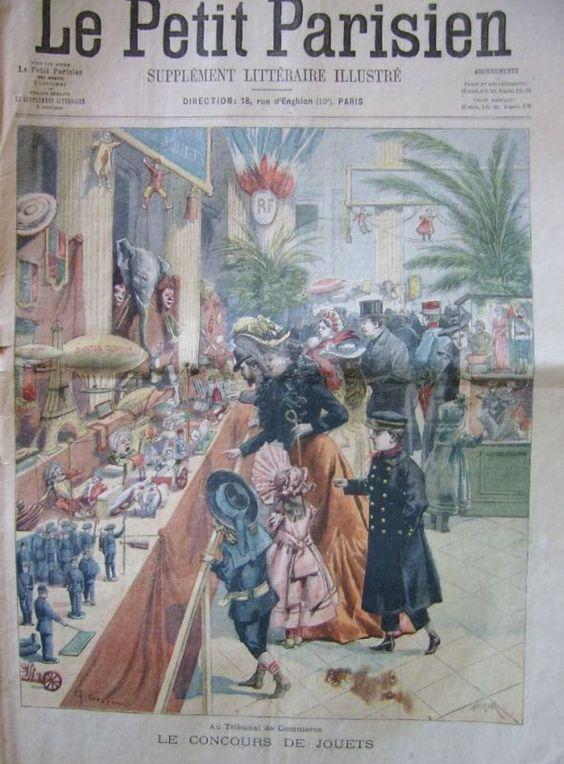 """Trouvaille de vide grenier: """"LE PETIT PARISIEN"""" : """"Le concours de jouets""""  8 décembre 1901."""